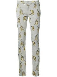 брюки с принтом тигров Giamba