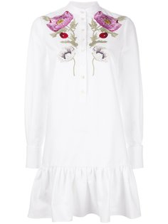 floral embroidered dress Alexander McQueen