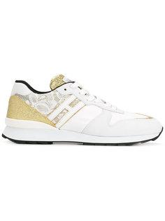 кроссовки с блестящими панелями Hogan Rebel