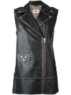 удлиненная байкерская куртка Mm6 Maison Margiela