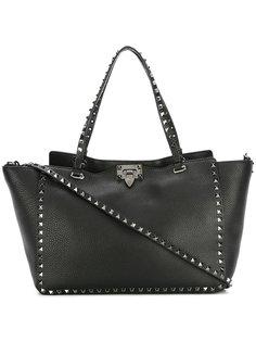 трапециевидная сумка-тоут Valentino Garavani Rockstud  Valentino