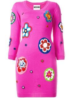 платье с вышивкой Moschino