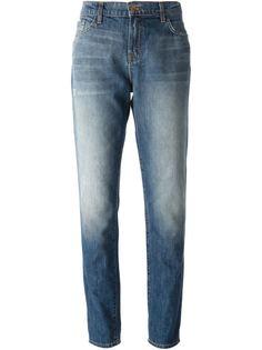 линялые джинсы в стиле бойфренд J Brand