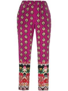 укороченные брюки с узором Etro