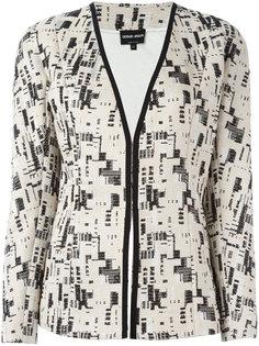 embroidery detail blazer  Giorgio Armani