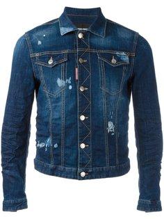 джинсовая куртка с рваными деталями Dsquared2