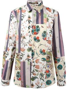 рубашка с лоскутным принтом Roberto Cavalli