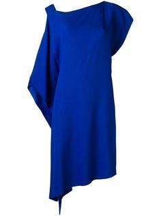 асимметричное платье со сборкой Alberta Ferretti