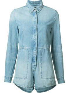 longsleeved denim playsuit Ksubi