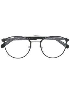очки с круглой оправой Prada Eyewear
