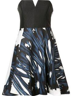 strapless flared dress Halston Heritage