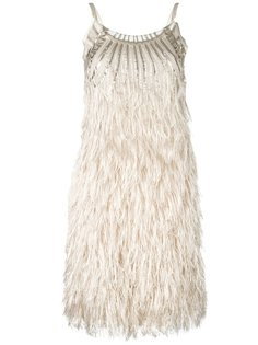 платье с перьями Alberta Ferretti