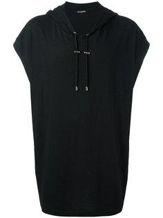 длинная футболка с капюшоном Pierre Balmain
