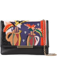 embroidered fold-over clutch Lizzie Fortunato Jewels