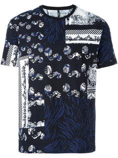 футболка с комбинированным принтом Versus