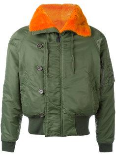 куртка-бомбер с меховой окантовкой Liska