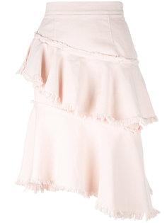 raw asymmetric flounce skirt Marco Bologna