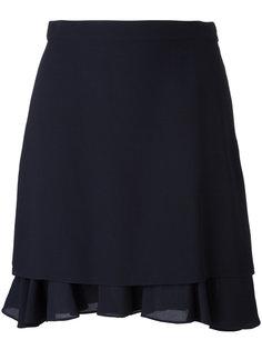 многослойная юбка А-образного кроя Carven