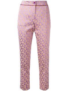 укороченные брюки с узором пейсли Etro