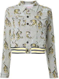 джинсовая куртка с принтом тигров Giamba