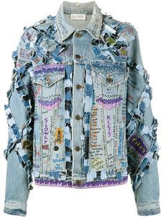 джинсовая куртка с принтом граффити Faith Connexion