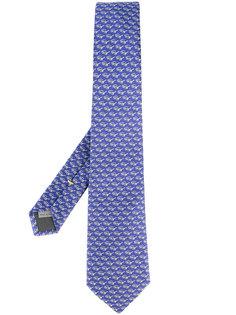 галстук с принтом солнцезащитных очков Canali