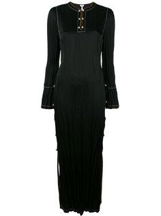 длинное платье с разрезом сбоку Loewe