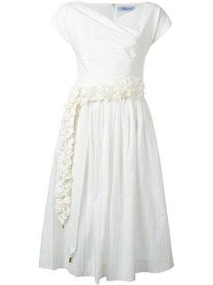 плиссированное платье  Blumarine
