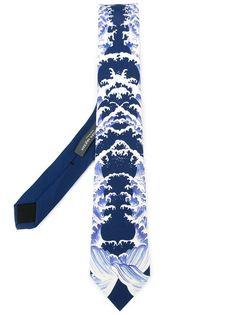 галстук с принтом Alexander McQueen