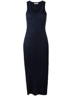 платье-майка с V-образным вырезом Mugler