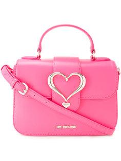 сумка через плечо с пряжкой-сердцем Love Moschino