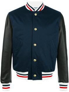 куртка-бомбер с полосатой окантовкой Moncler Gamme Bleu