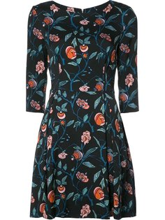 floral print flared dress Suno