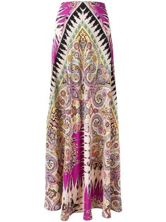 юбка макси с узором пейсли Etro