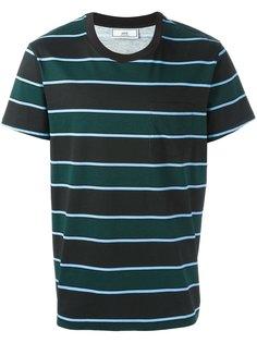 полосатая футболка с нагрудным карманом Ami Alexandre Mattiussi
