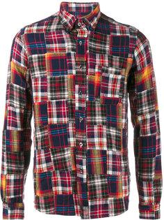 patchwork flannel shirt  Sophnet.