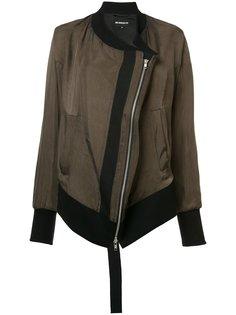 diagonal zip bomber jacket Ann Demeulemeester Blanche