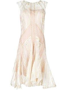 платье с эффектом металлик Alberta Ferretti