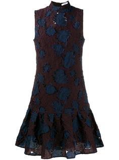 жаккардовое платье с цветочным мотивом Erdem
