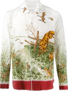рубашка с принтом лис Maison Margiela