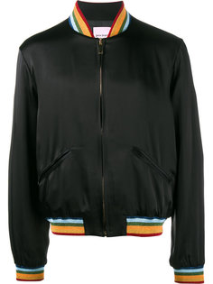 куртка-бомбер с радугой Palm Angels