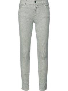 striped super skinny jeans J Brand