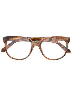 очки с эффектом черепашьего панциря Linda Farrow