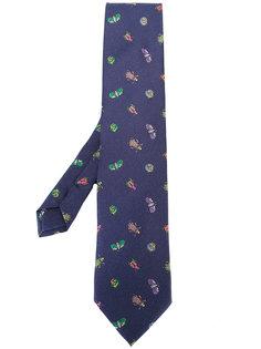 галстук с принтом жуков Etro