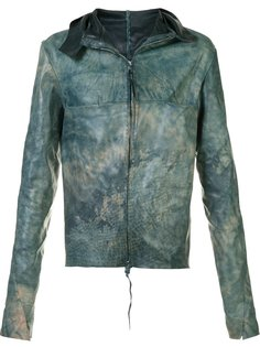 wide collar leather jacket Ma+