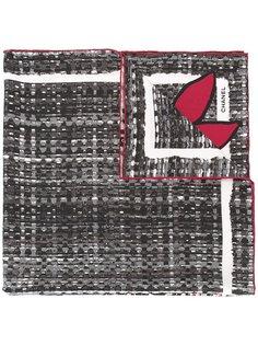 шарф с принтом Chanel Vintage