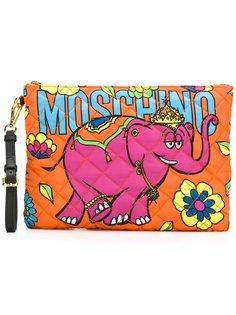 клатч с рисунком слона Moschino
