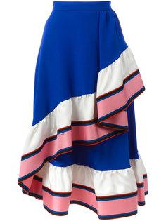 юбка А-образного силуэта с оборками Emilio Pucci