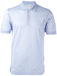 футболка-поло с вышитым логотипом Brioni