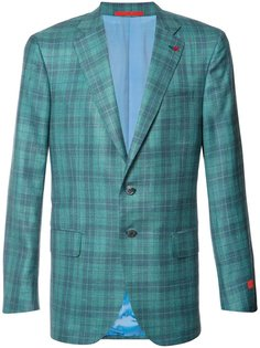 plaid blazer Isaia